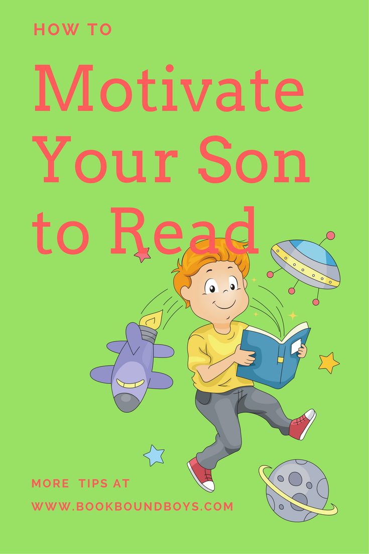 A Happy Boy Reading Books